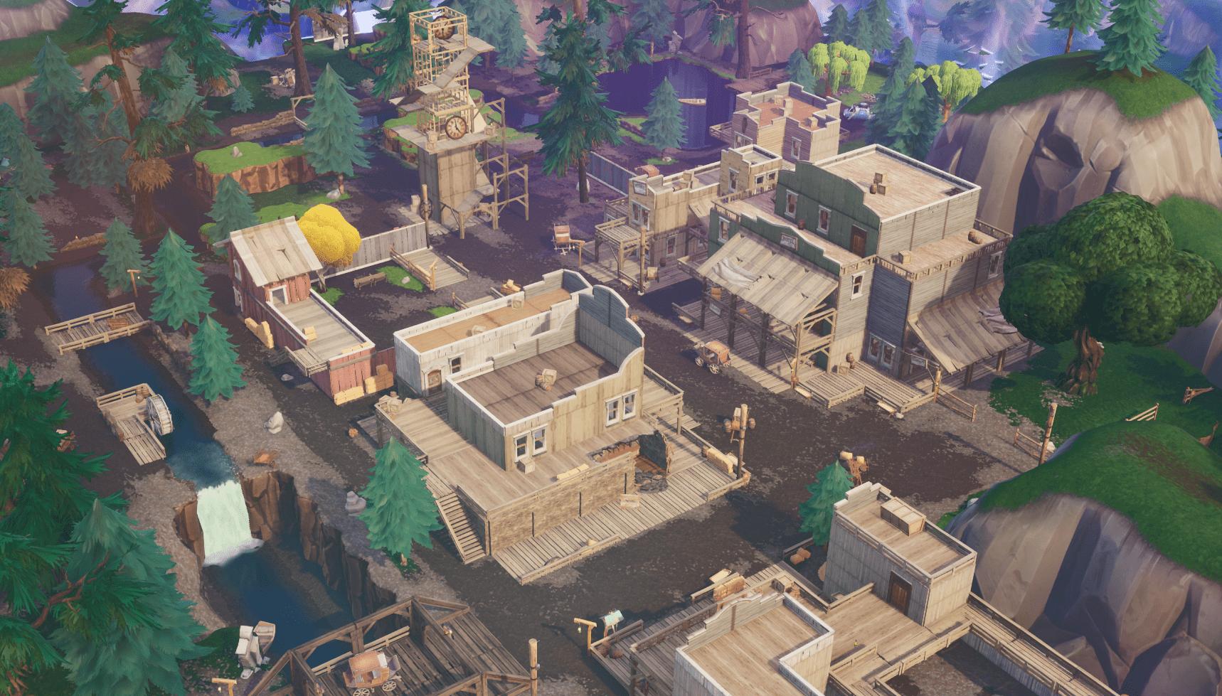 Fortnite  v10.00 Обновление контента Изменения карты - Tilted Town