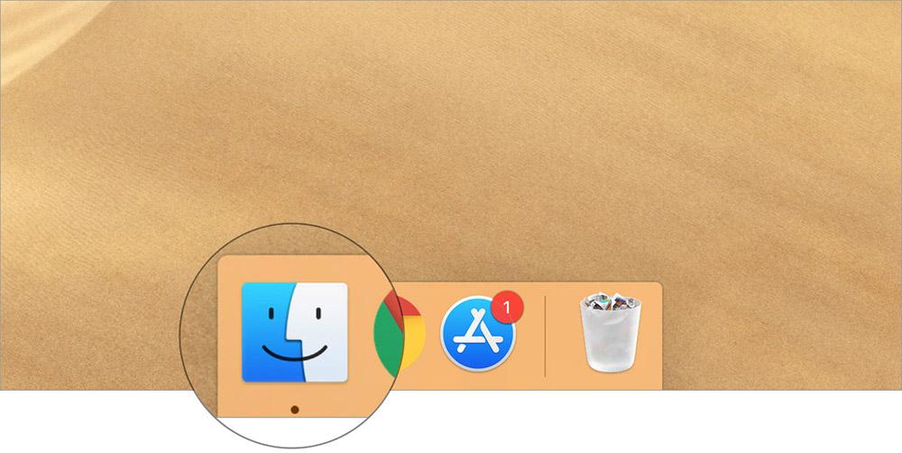 Запустите Finder на вашем Mac
