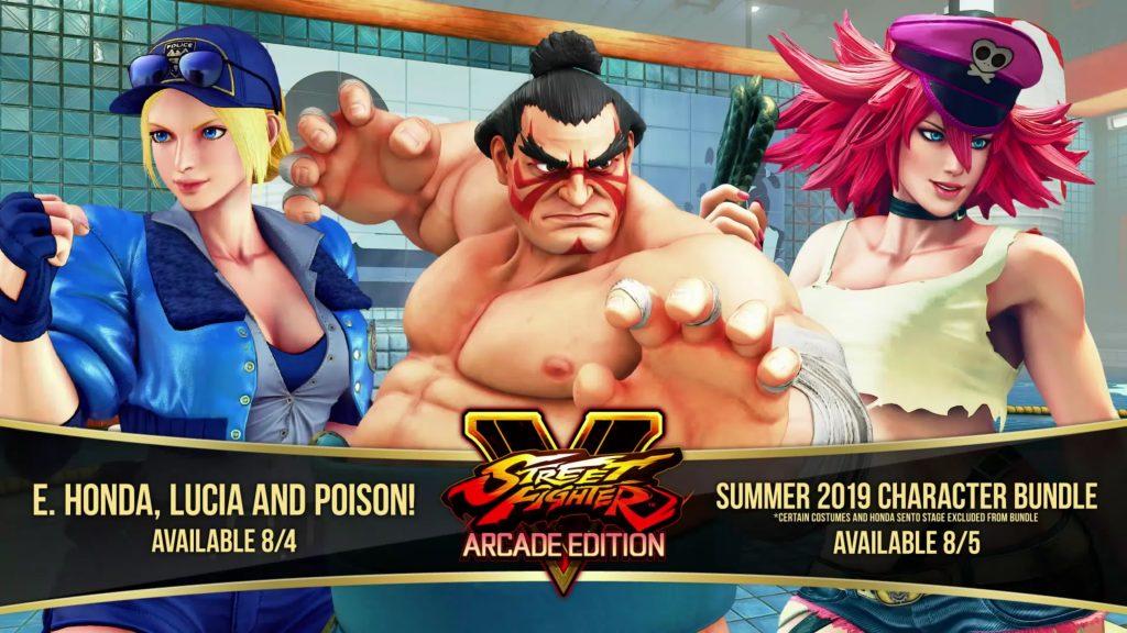 Street Fighter V добавит E. Honda, Poison и нового бойца Lucia 4 августа - Filtered Gameplay Trailer