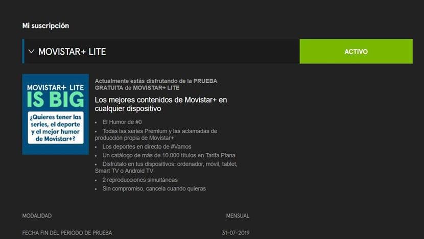 Movistar + Lite захват