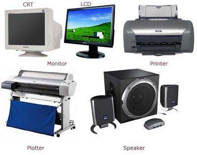 Компоненты компьютерной системы, которые действуют как устройство вывода