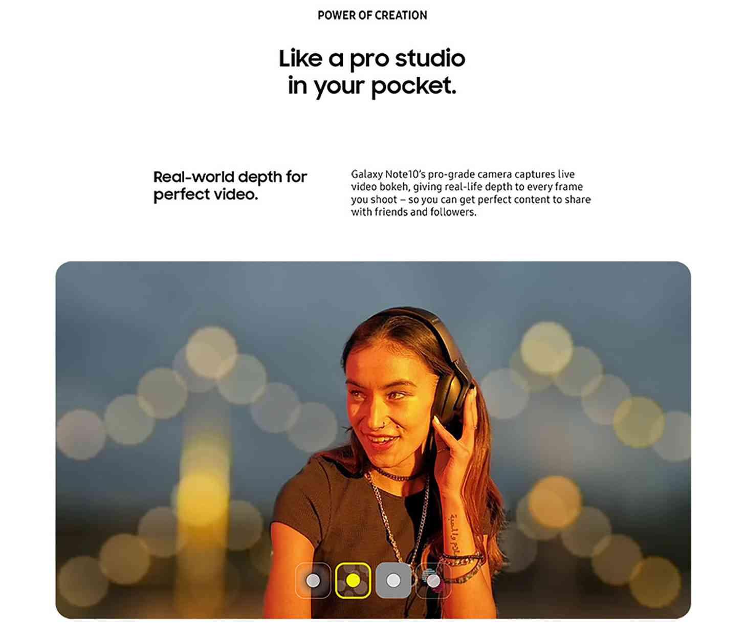 Samsung Galaxy Note  10 рекламных материалов камеры