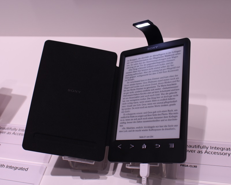 Читатель Sony PRS-T3 был замечен на IFA