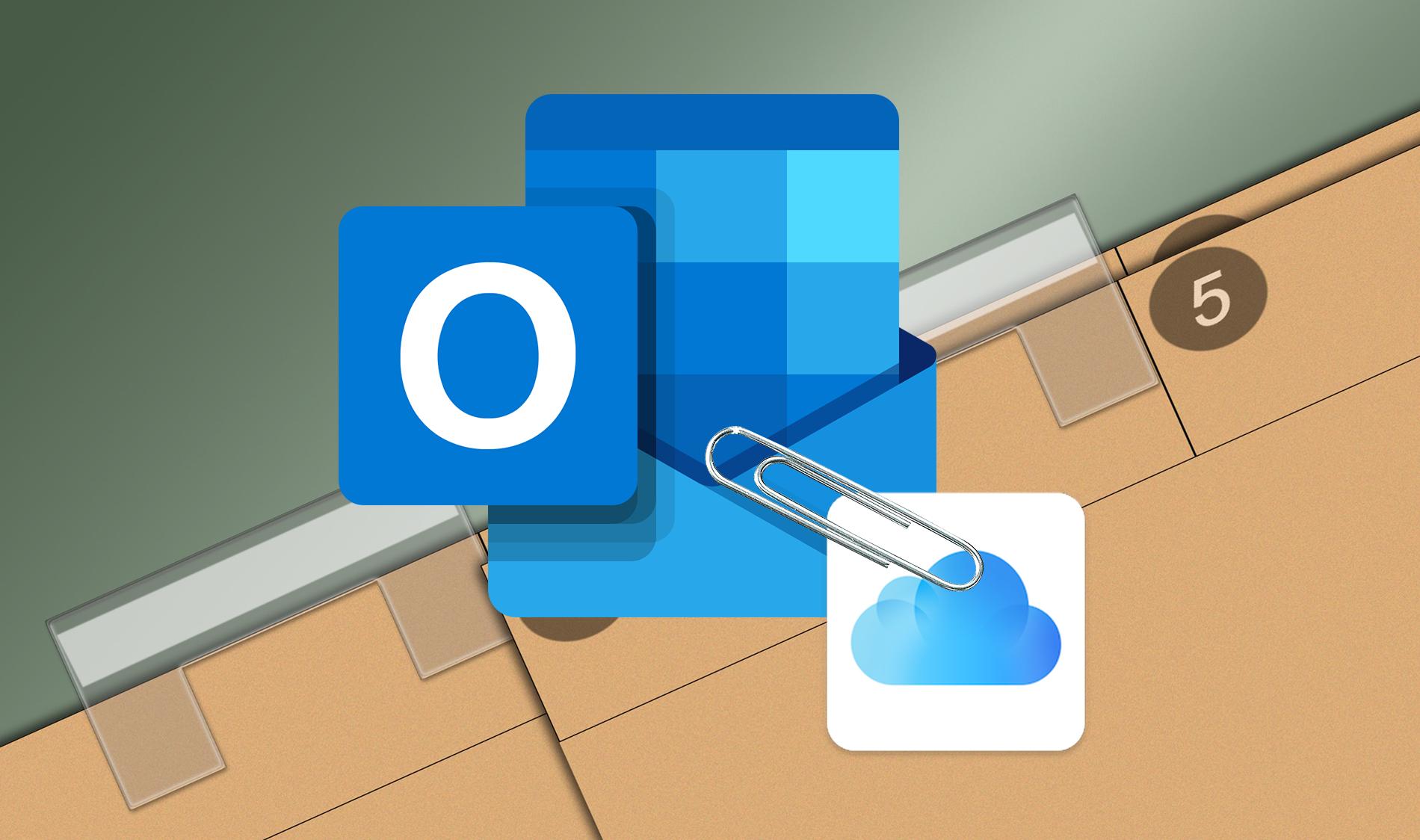 Как прикрепить файлы iCloud Drive в Outlook для iOS