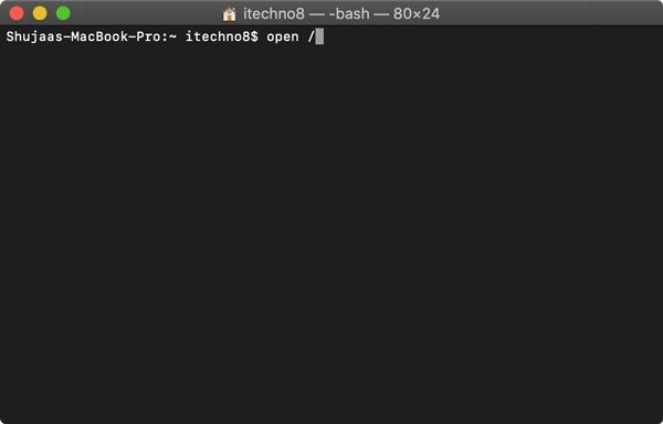 Open File Terminal Open Directory Команда