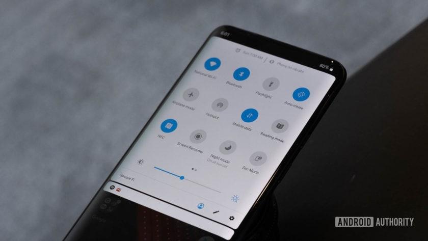 Тень уведомления OnePlus 7 Pro