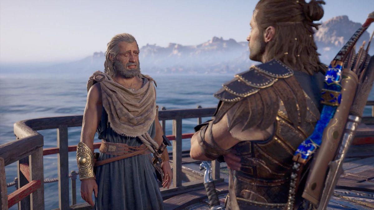 Варнава стоит на палубе своего корабля и просит помощи