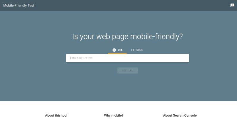 Тест Google для мобильных устройств