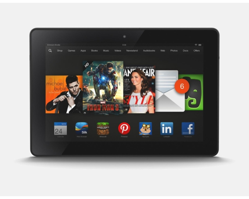 Amazon уменьшает Kindle Fire HDX на 30 фунтов к Рождеству