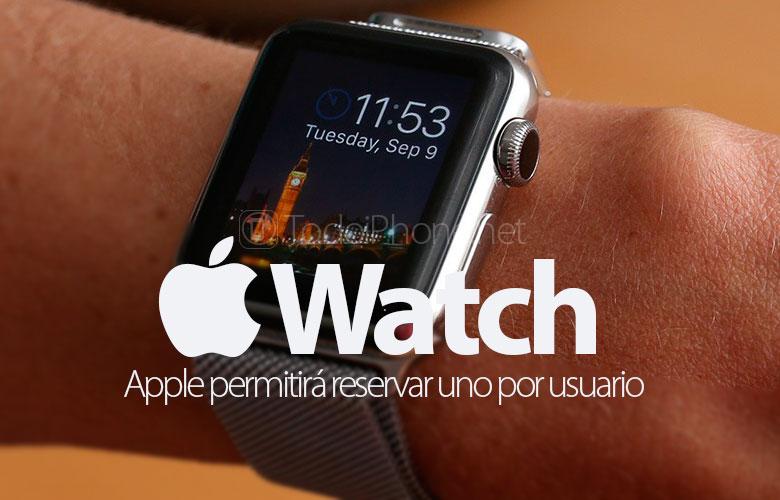 Apple Watchкаждый клиент может забронировать только один 1