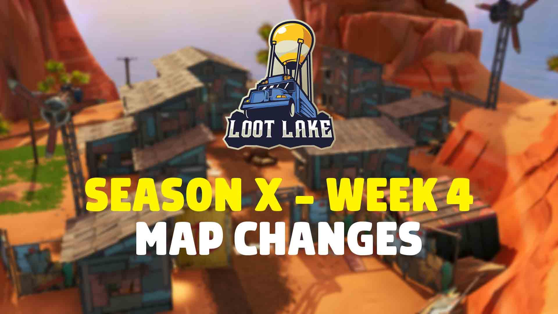 Fortnite Сезон X: неделя 4 Изменения карты