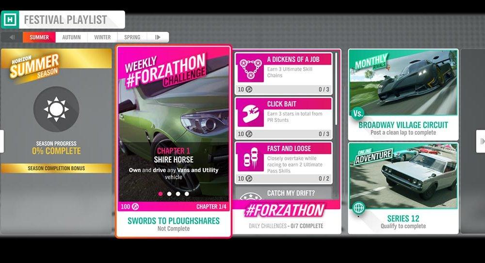 Forza Horizon 4 # Forzathon 1-8 августа: «Мечи на орала»