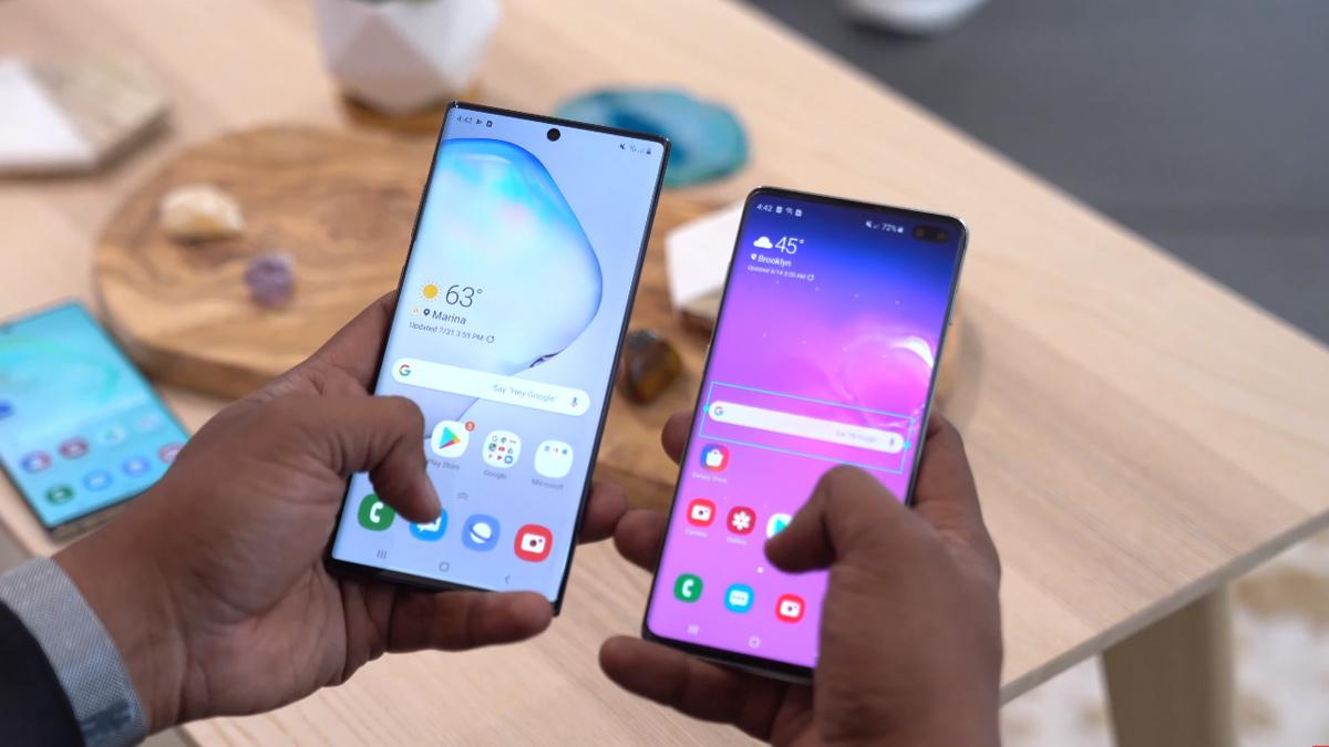 Galaxy Note 10 Vs Galaxy S10 Plus
