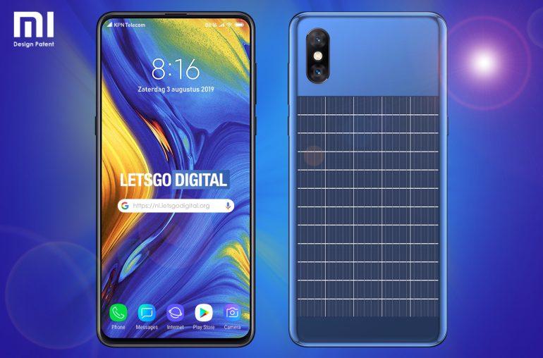 Xiaomi запатентовал смартфон с солнечной зарядкой