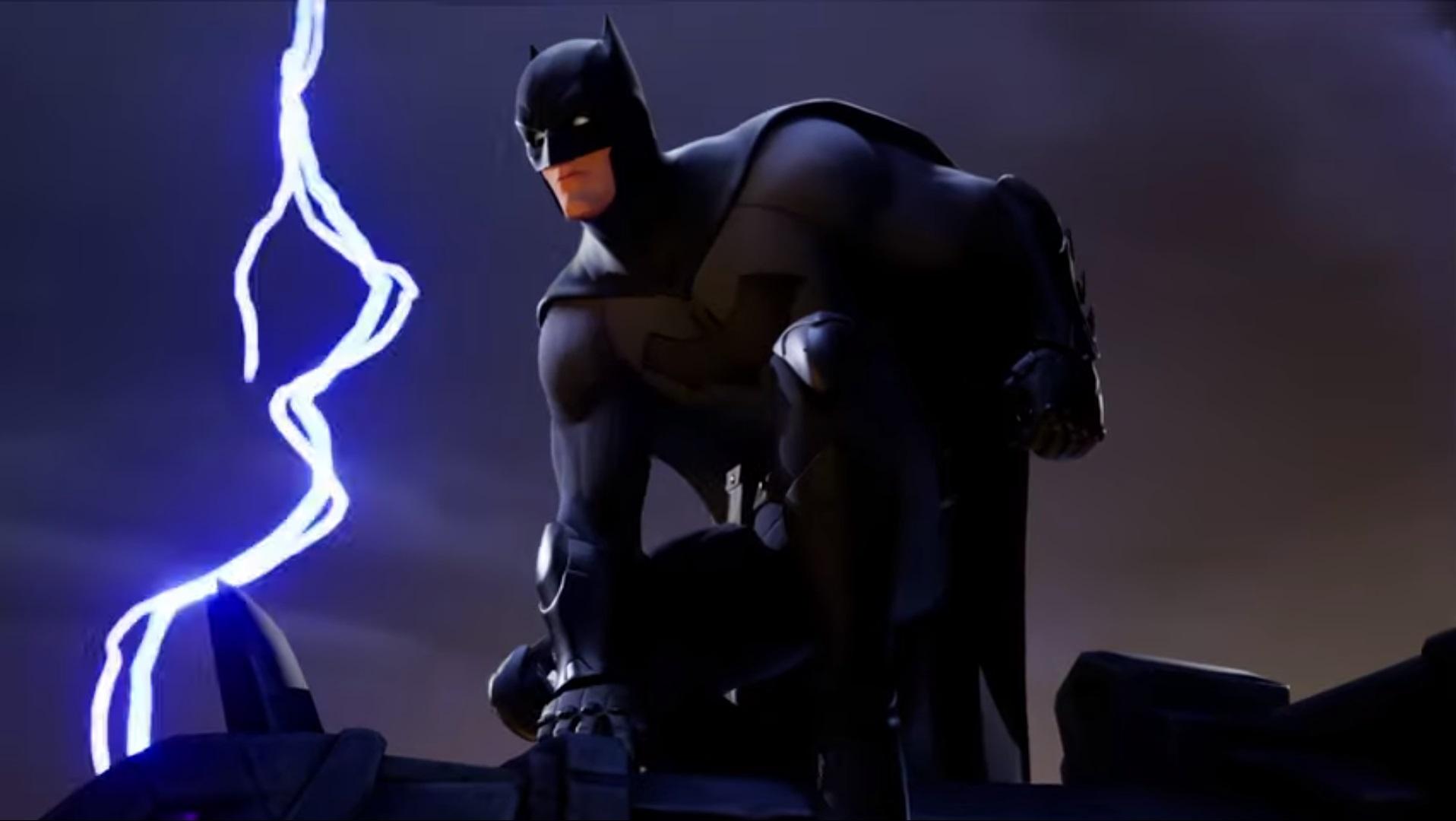 Бэтмен борется в Fortnite Королевская битва