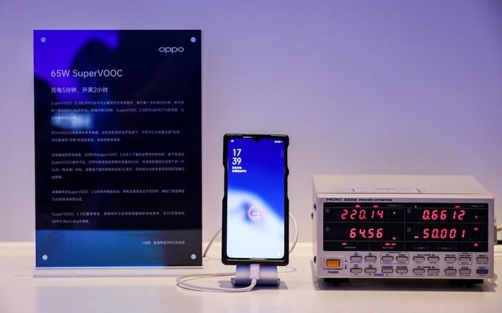 Для полной зарядки телефона Oppo 65 Вт SuperVOOC требуется менее 30 минут.