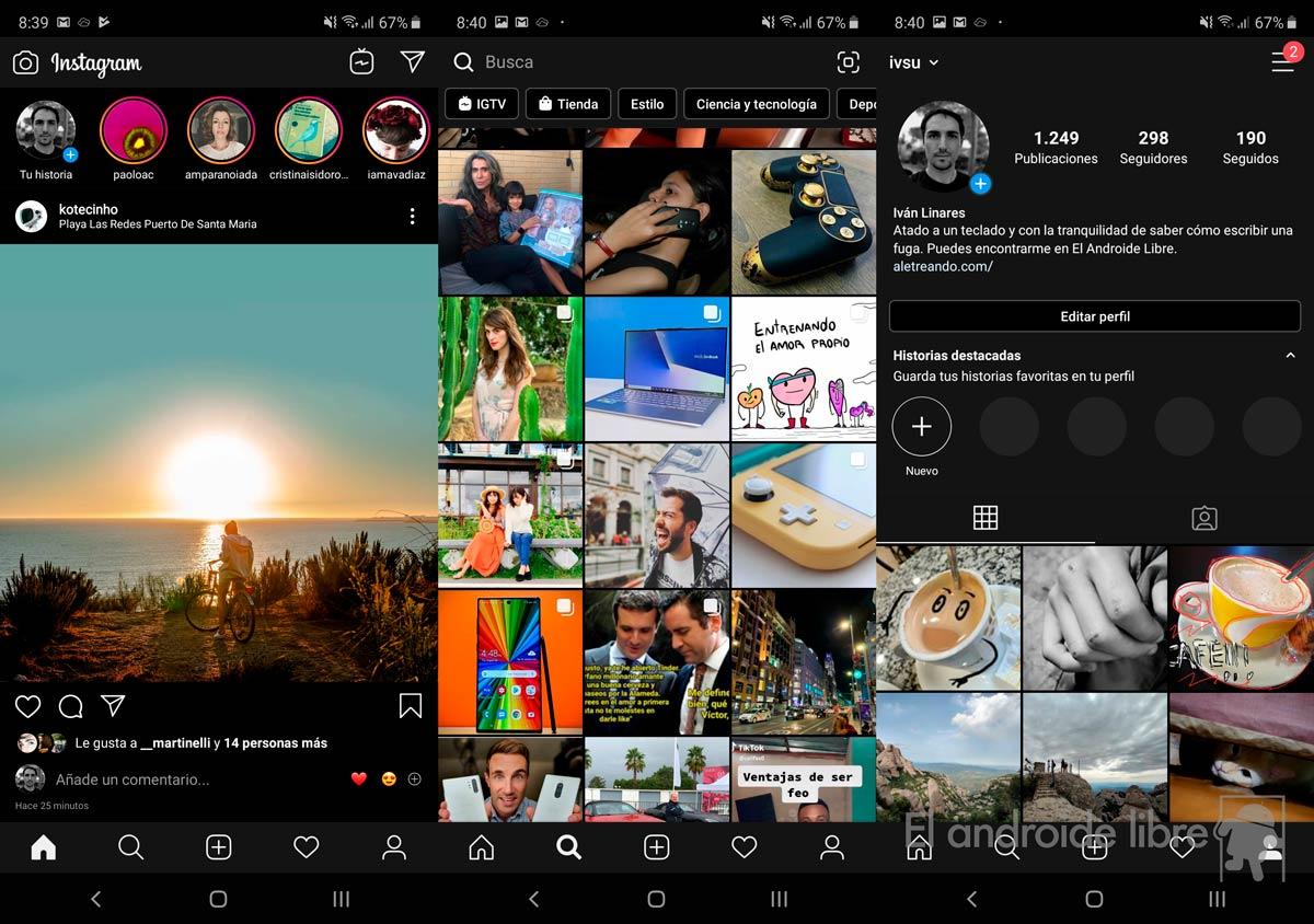 Как активировать темный режим в Instagram