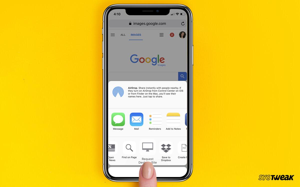 Как поменять поиск изображений на iPhone