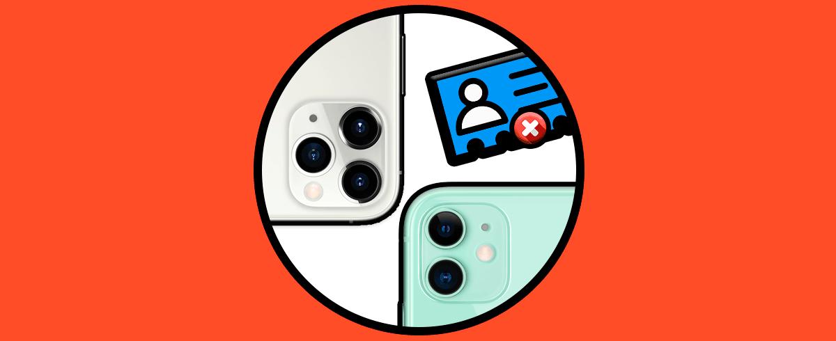 Как убрать контакт iPhone 11, iPhone 11 Pro или iPhone 11 Pro Max