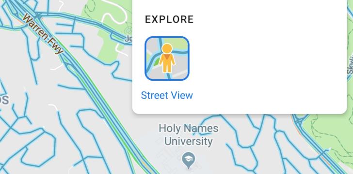 Карты Google на Android теперь имеют слой Street View