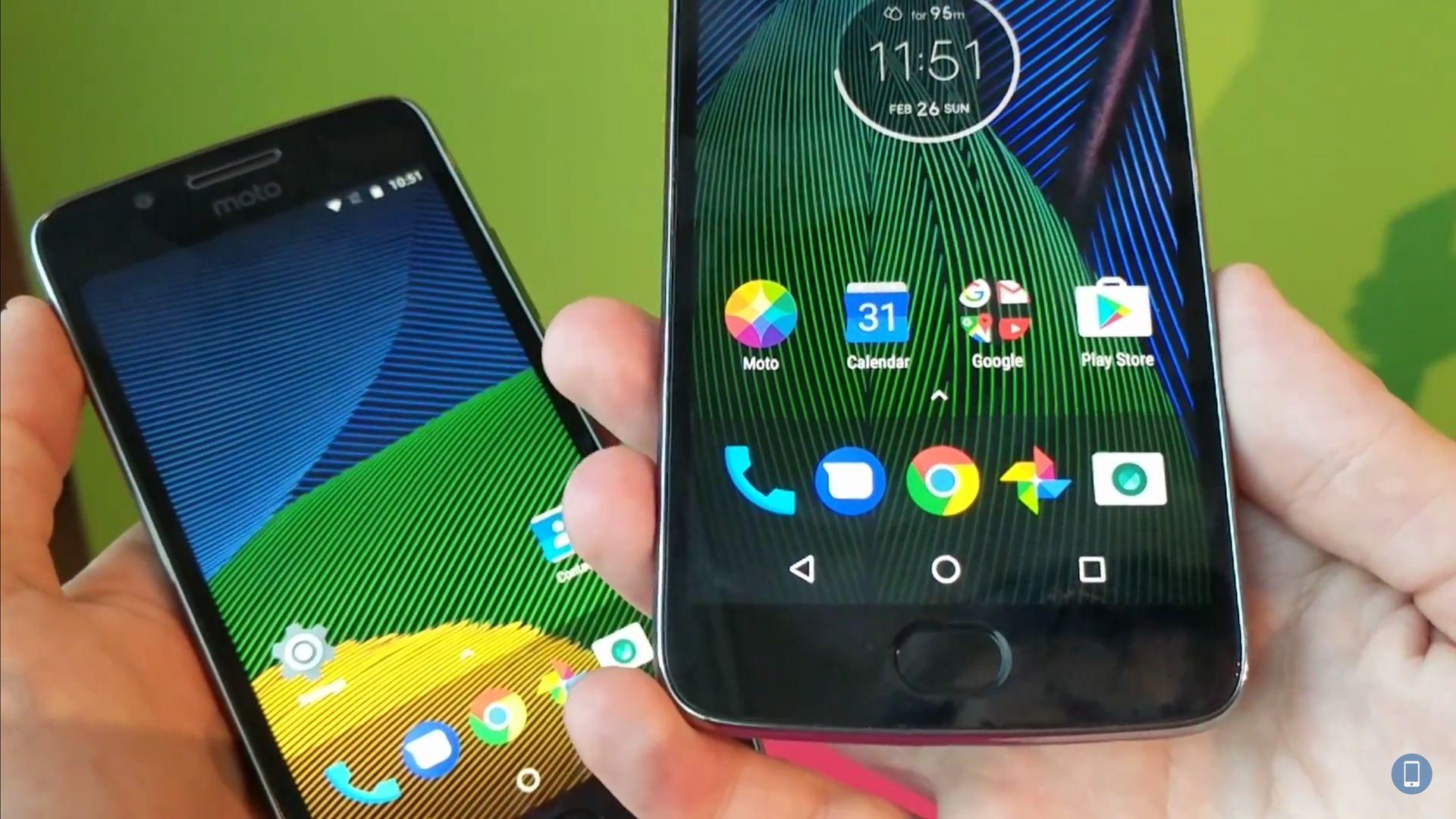 Первые впечатления Moto G5 и G5 Plus # MWC17