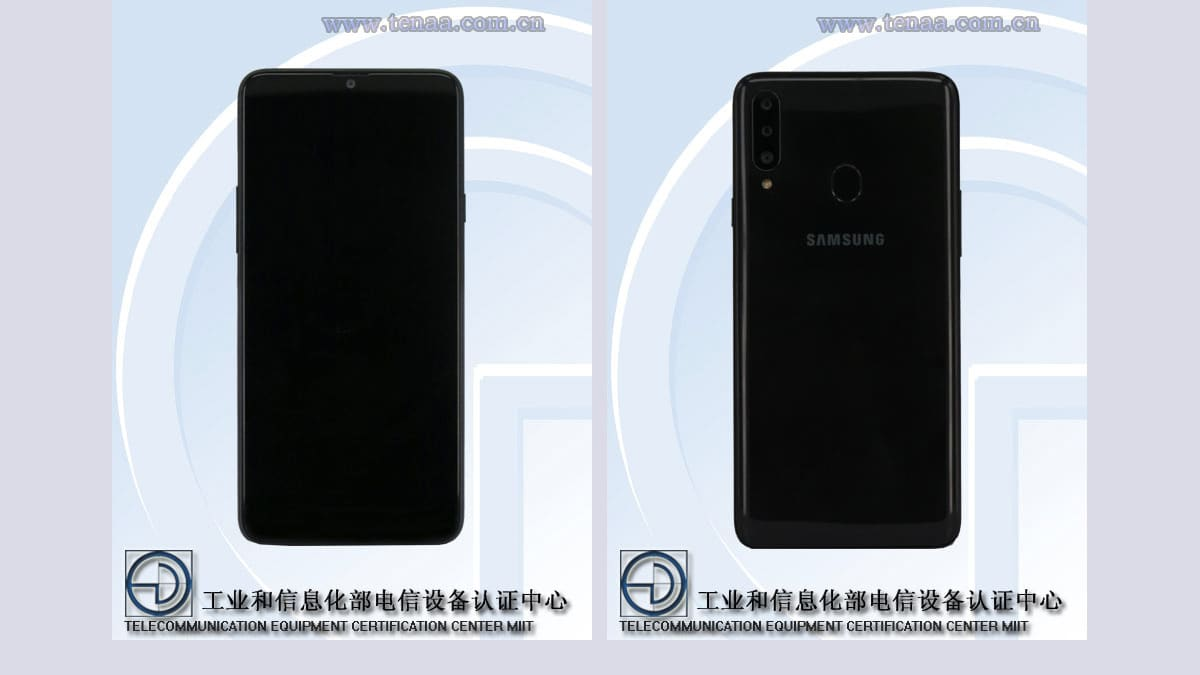 Samsung Galaxy A20s TENAA Listing Tips Triple Rear Cameras and Capacitive Fingerprint Sensor