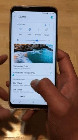 Как получить прозрачную панель быстрых настроек на вашем Galaxy S8 или S9
