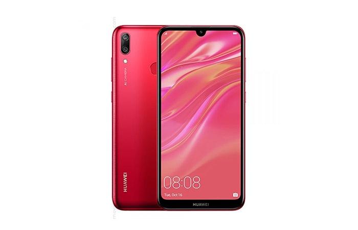 Передняя и задняя часть Huawei Y7 2019