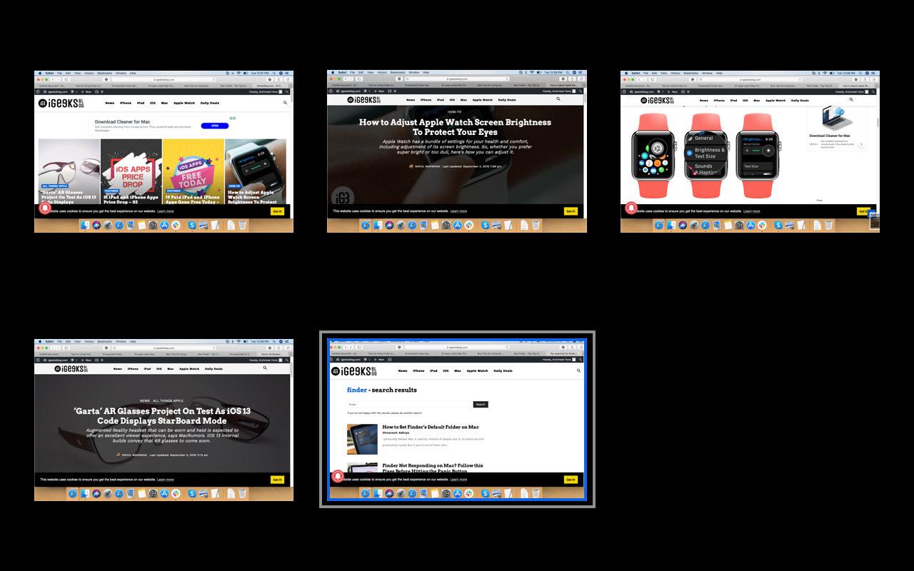 Выберите окно, чтобы увеличить файл на Быстрый просмотр в Mac Finder