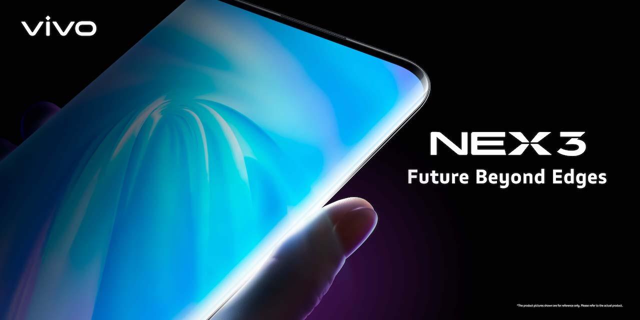 VIVO NEX 3 с запущенным водопадным экраном, готовая версия 5G