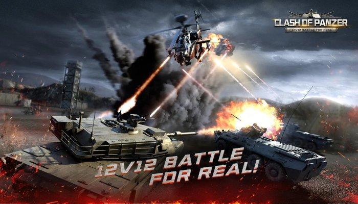 Столкновение Panzer переносит 12-го танковые сражения на мобильный в этом октябре