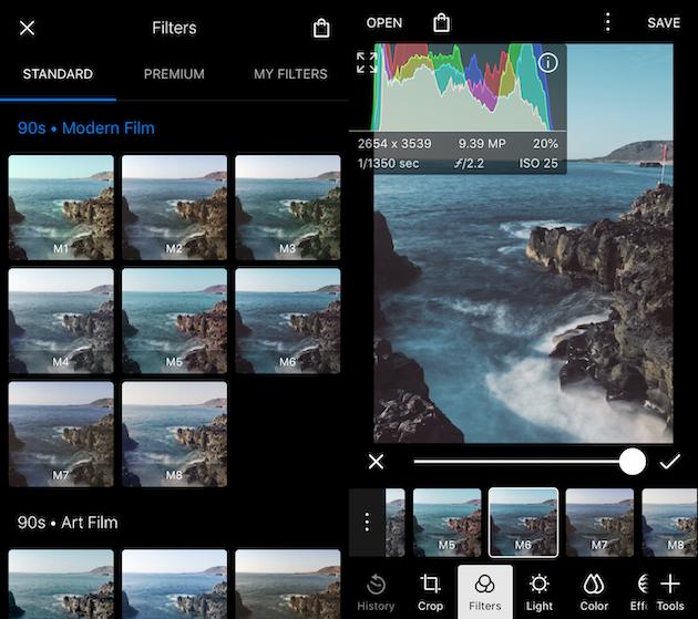 самые лучшие фильтры для фото на айфон программы, эффектные