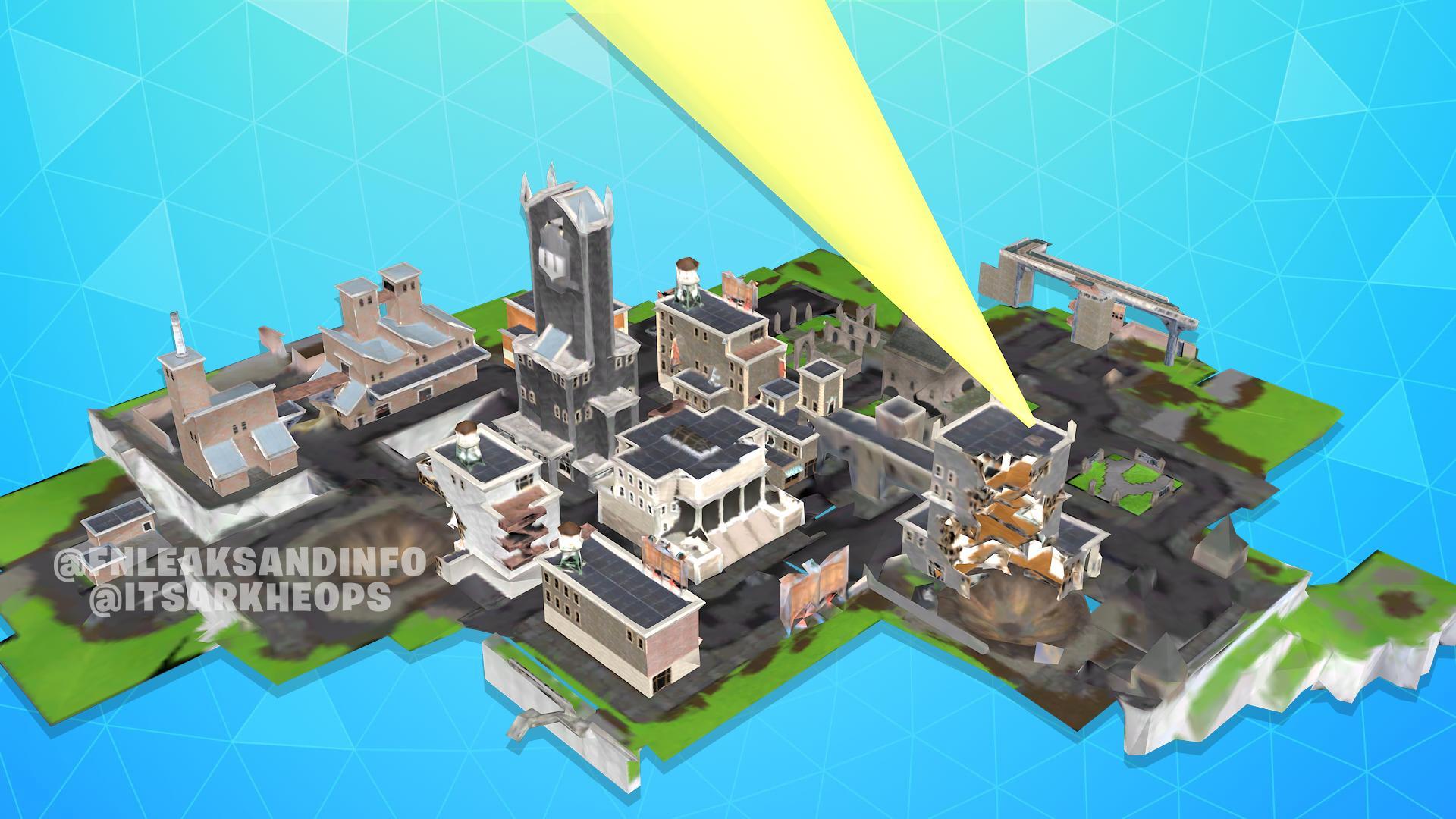 Fortnite  x Бэтмен Готэм Сити Утекшие Здания