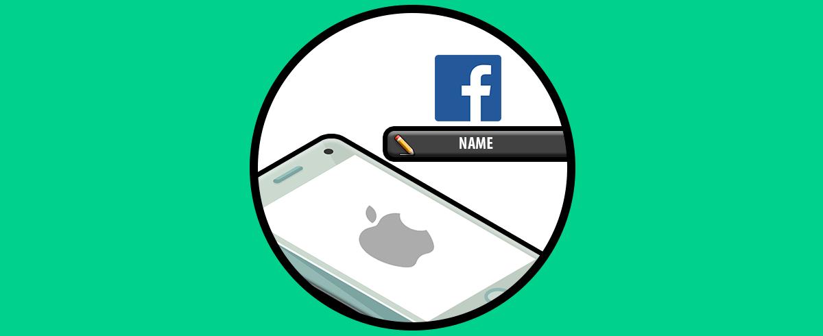 Как поменять имя в Facebook iPhone