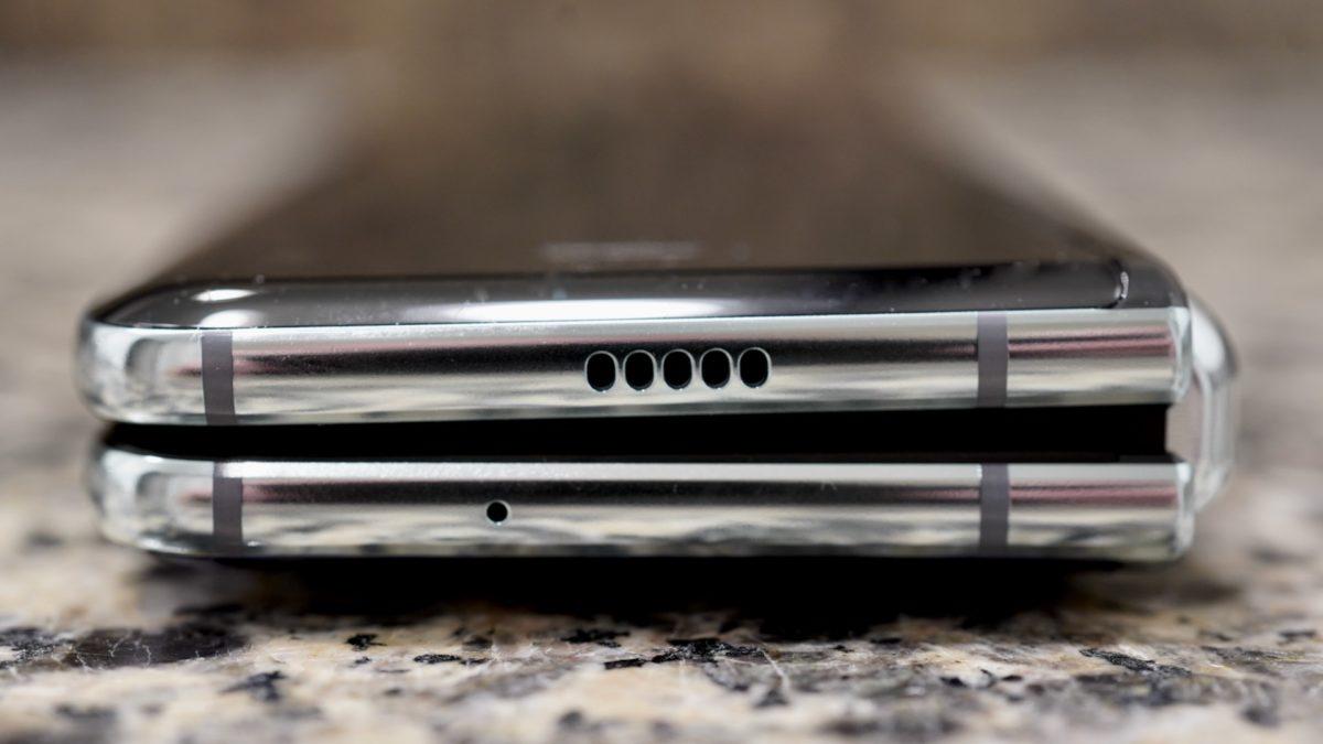 Samsung Galaxy Fold  сложить верхний край обзора