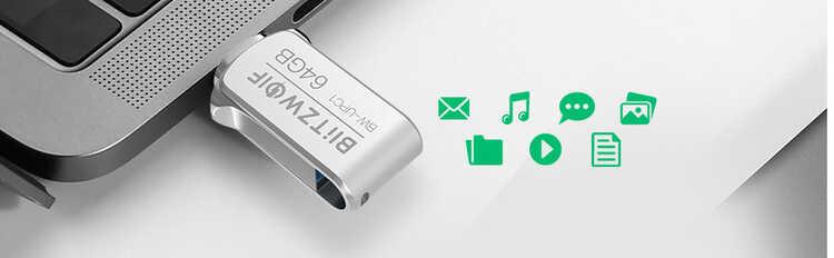 Type USB Type C и USB 3.0, двойное соединение в этой памяти 64 ГБ + купон на скидку 3