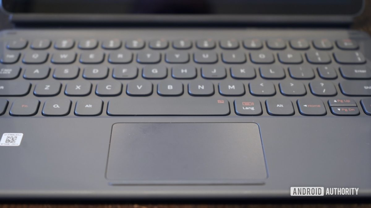 Samsung Galaxy Tab S6 обзор клавиатуры крупным планом