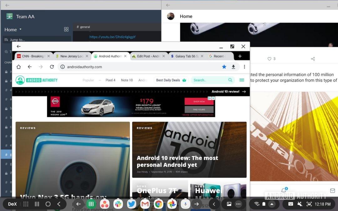 Samsung Galaxy Tab S6 обзор многозадачности