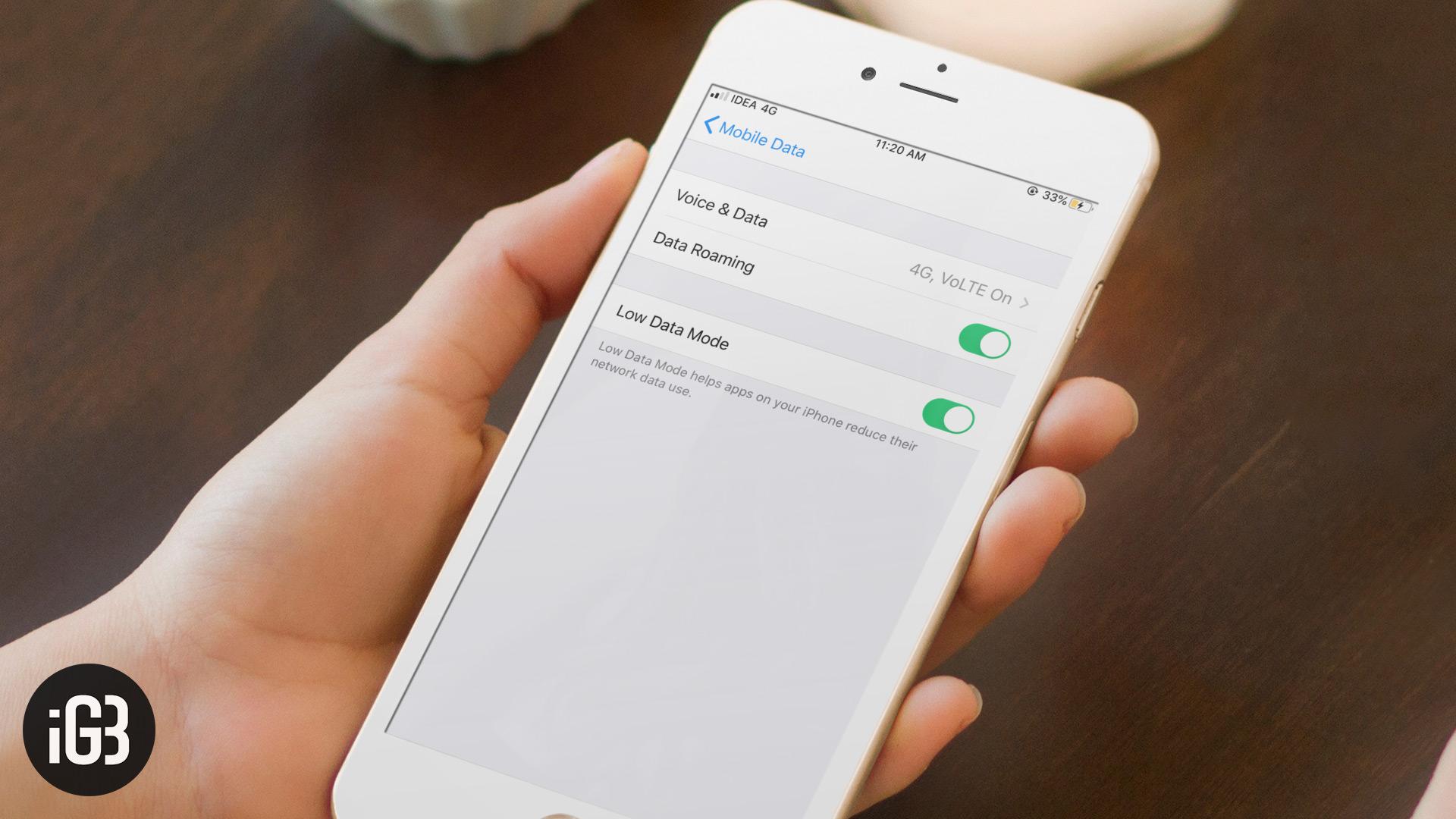 Как включить режим низкого уровня данных в iOS 13 на iPhone и iPad