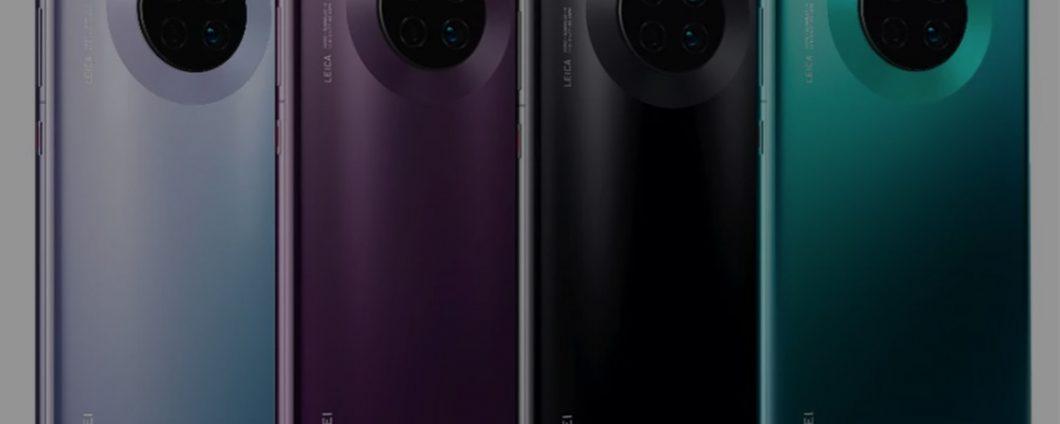 Huawei Mate 30: утечка цвета и технические характеристики