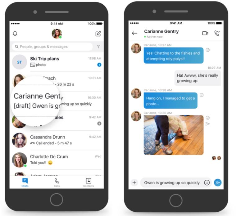 Skype получает кучу новых функций, чтобы сделать чат более продуктивным 1