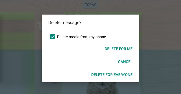 whatsapp delete for everyone