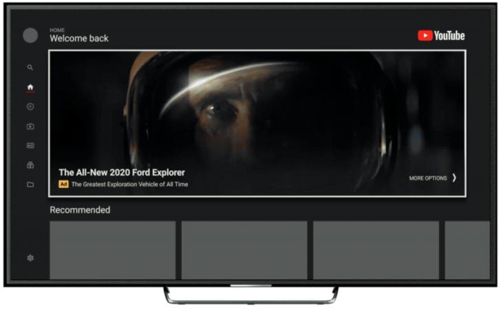 YouTube ставит массовую рекламу с автоматическим воспроизведением в свои телевизионные приложения