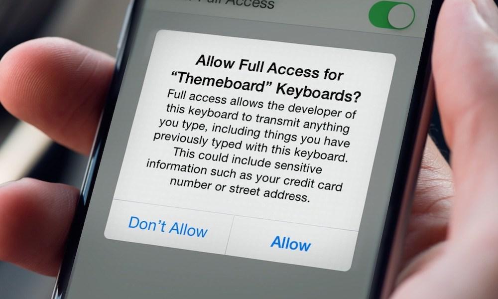 Iphone Keyboard Permission