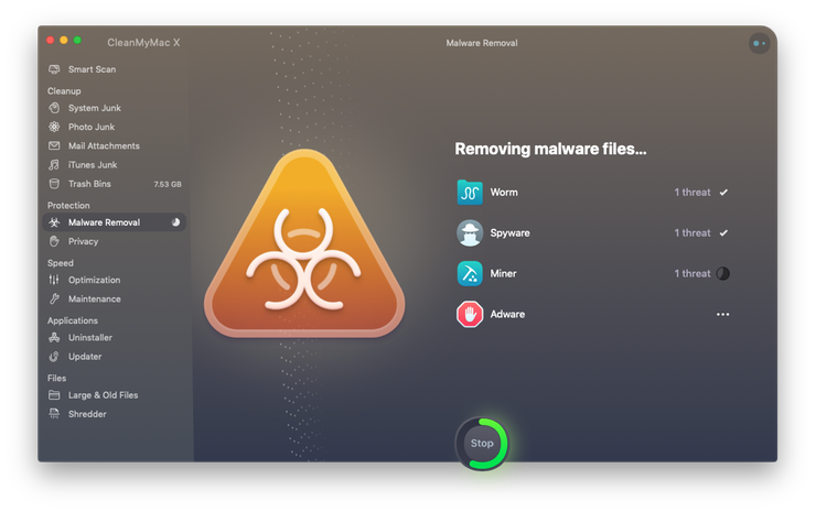 Удаление вредоносных программ на Mac