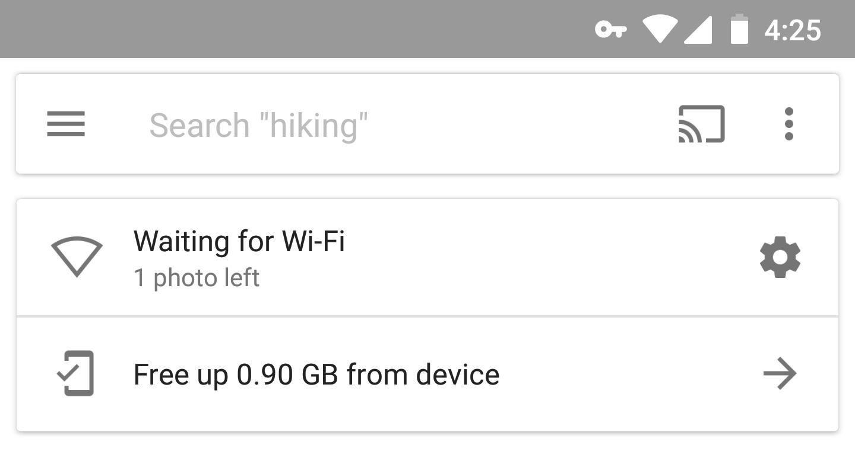 Google Фото ждут Wi-Fi? Вот исправление