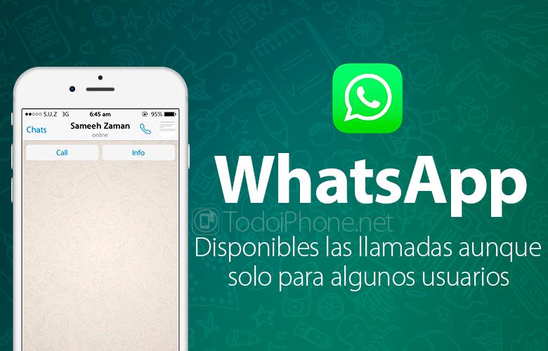 WhatsApp, приложение для обмена сообщениями, теперь позволяет звонить некоторым пользователям 1