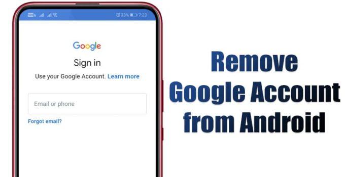 Как удалить учетную запись Google с устройства Android