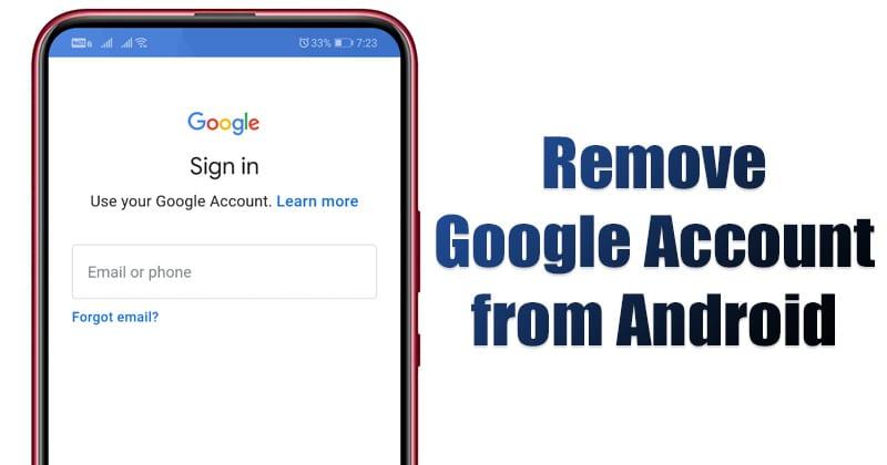 Как удалить учетную запись Google с устройства Android 1
