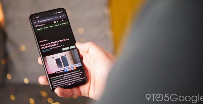 Темная тема Chrome для Android теперь немного темнее 313